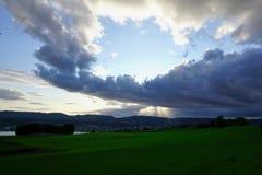 I ricchi del ¼ dello zà del lago nel herrliberg feldmeilen Fotografie Stock