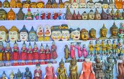I ricordi buddisti di legno scolpiti, Ava fotografia stock