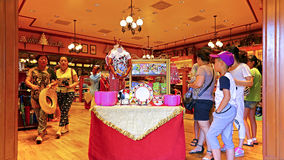 I ricordi immagazzinano a Disneyland Hong Kong Fotografie Stock