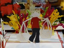 I ricordi tradizionali del ` s del Vietnam sono venduti in negozio quarto del ` s di Hanoi al vecchio Fotografie Stock Libere da Diritti