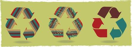 I rifiuti di tre icone illustrazione vettoriale