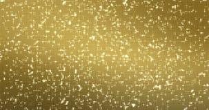 I riflettori dorati astratti punteggiano il ciclo senza cuciture delle scintille e di scintillio, partito e night-club di discote illustrazione di stock