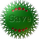 I risparmi metallici verdi della guarnizione 3D Fotografia Stock Libera da Diritti
