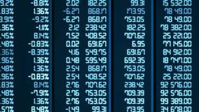 I risultati di analisi di mercato cambiano in cellule elettroniche del bordo, gli indici aumentano e cadono royalty illustrazione gratis