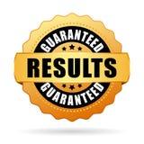 I risultati hanno garantito la guarnizione di vettore dell'oro Immagini Stock