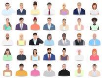 I ritratti della gente differente, colleghi vector l'illustrazione Immagine Stock