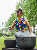 I rituali pieghi rendono i miglioramenti nella regione di Homiel'della Repubblica Bielorussa nel 2015 fotografia stock libera da diritti