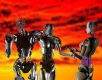 I robot Immagini Stock
