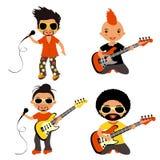 I rock star hanno impostato Fotografie Stock Libere da Diritti