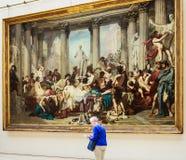 I Romani della decadenza Thomas Couture Musee Orsay immagini stock