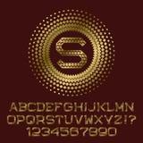 I rombi hanno modellato le lettere ed i numeri dell'oro con il monogramma Fotografie Stock