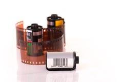 i ruoli di una pellicola negativa da 35 millimetri Fotografia Stock