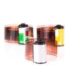 i ruoli di una pellicola negativa da 35 millimetri Fotografia Stock Libera da Diritti