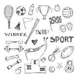 I rysować wektorowe ilustracje Sporta i sprawności fizycznej set ilustracji