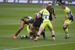 I Sale Sharks ed il rugby 7 S delle vespe fotografie stock libere da diritti