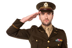 I salute my country ! Royalty Free Stock Image