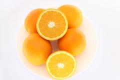 I sammanhanget av apelsinen Royaltyfri Foto