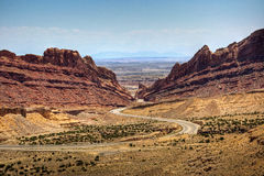 I-70 Through San Rafael Reef Stock Images