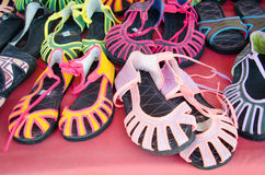 I sandali di Mhong tribali Immagini Stock Libere da Diritti