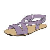 I sandali isolati su fondo bianco, scarpe degli uomini di estate Fotografie Stock Libere da Diritti