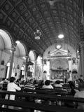 In i Santa Cruz Church med monokrom Royaltyfria Bilder