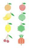 I sapori della frutta hanno messo 2 Fotografia Stock Libera da Diritti