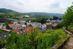I Schengen Luxembourg Fotografering för Bildbyråer