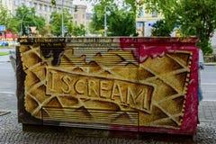 I Scream  graffiti in Berlin Stock Photo
