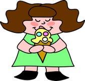 I scream for Ice Cream. Lil girl enjoys her favorite, bubblegum ice cream Royalty Free Stock Image