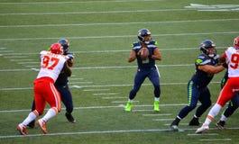 I Seattle Seahawks CONTRO i Kansas City Chiefs Immagini Stock Libere da Diritti