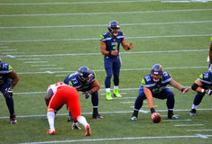 I Seattle Seahawks CONTRO i Kansas City Chiefs Immagine Stock