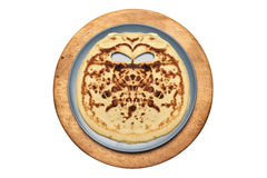 I see face on a pancake Royalty Free Stock Photos