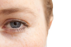 I see the idea - Closeup of womans eye Royalty Free Stock Image