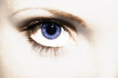 I see you. The hypnotic look of a woman Royalty Free Stock Image