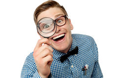 I see you very big and clear. stock image