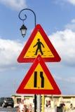 I segnali stradali Fotografia Stock