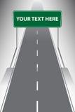 I segnali stradali conducono il modo alla vostra destinazione Immagini Stock Libere da Diritti