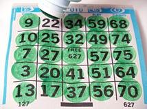 I segnapunti del gioco di bingo Fotografia Stock