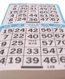 I segnapunti del gioco di bingo Fotografie Stock