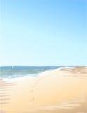 I segni del mare sulla sabbia Fotografia Stock Libera da Diritti