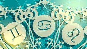 I segni dell'astrologia ciclano royalty illustrazione gratis