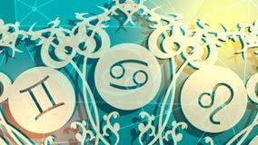 I segni dell'astrologia ciclano illustrazione di stock