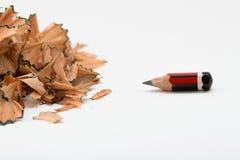 I segni dello sforzo consumati disegnano a matita fotografie stock