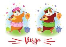 i segni dello zodiaco Cavia sulla spalla 6587 virgo Fotografia Stock Libera da Diritti