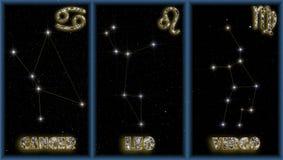 I segni di estate dello zodiaco Fotografie Stock Libere da Diritti