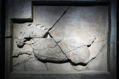 I sei destrieri di Zhao Mausoleum immagini stock