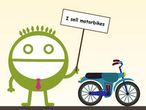I sell motorbikes Stock Photos