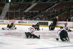 I senatori Stretches di Ottawa Fotografie Stock Libere da Diritti