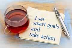 I set smart goals and take action Royalty Free Stock Images