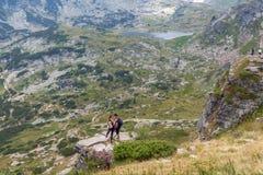 I sette laghi Rila, Bulgaria Immagini Stock Libere da Diritti